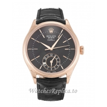 Rolex Cellini Black Dial 50525 39 MM