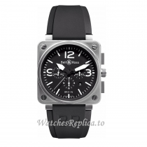 Bell Ross Replica Watch BR0194-BL-ST 46MM