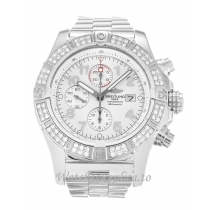 Breitling Super Avenger White Dial A13370 48 MM