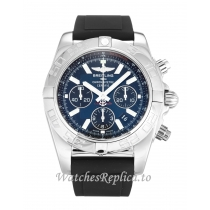 Breitling Chronomat Blue Dial 44 AB0110 43 MM