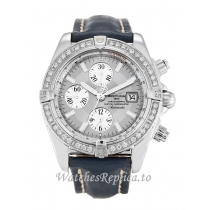 Breitling Chronomat Evolution Silver Dial A13356 44MM