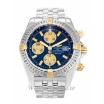 Breitling Chronomat Evolution Blue Dial B13356 44 MM