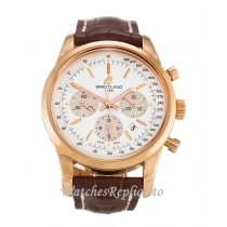 Breitling Transocean Chronograph Rose Gold Dial RB0152 43 MM