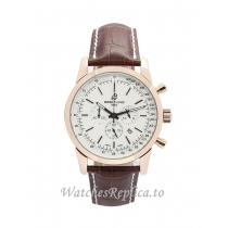Breitling Transocean Chronograph White Dial RB0152 43 MM