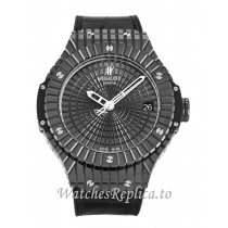 Hublot 41mm Black Ceramic Dial 346.CX.1800.BR 41 MM