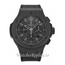 Hublot 44mm Black Carbon Dial 301.QX.1740.GR 44 MM