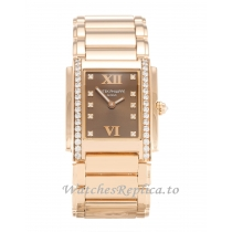 Patek Philippe Twenty 4 Chocolate Diamond Dial 4910/11R 25 MM
