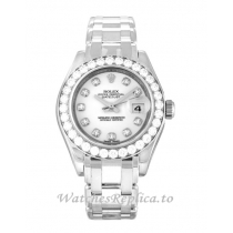 Rolex Pearlmaster White Diamond Dial 80299-29 MM
