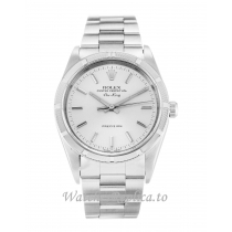 Rolex Air-King Silver Dial 14010M-34 MM