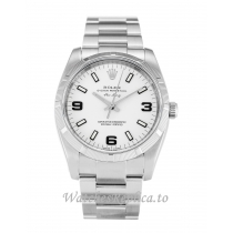 Rolex Air-King White Dial 114210-34 MM