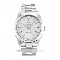 Rolex Air-King Silver Dial 14000M-34 MM