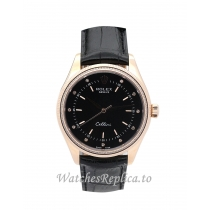 Rolex Cellini Black Dial 4233/8 25 MM