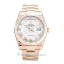 Rolex Day Date White Dia 118235 F 36MM