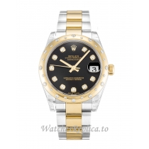 Rolex Mid Size Datejust Black Diamond Dial 178343 31MM