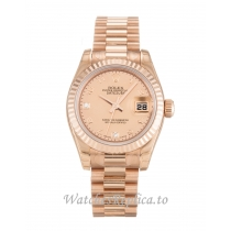 Rolex Datejust Lady Mother of Pearl   Goldust Diamond Dial 179175F 26MM