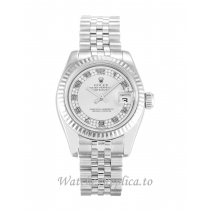 Rolex Datejust Lady Silver Diamond Dial 179174 26MM