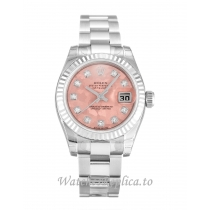 Rolex Datejust Lady Gold Dust   Pink Dial 179174 26MM