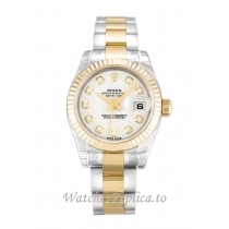 Rolex Datejust Lady White Diamond Dial 179173 26MM