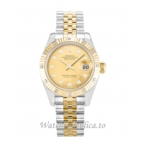 Rolex Datejust Lady Champagne Goldust Diamond Dial 179313 26MM