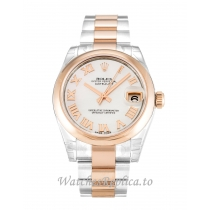 Rolex Mid Size Datejust Mother of Pearl   White Dial 178241 31MM
