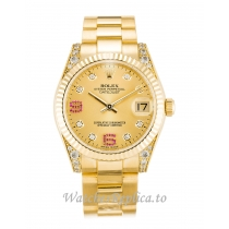 Rolex Mid Size Datejust Champagne Diamond Dial 178238 36MM