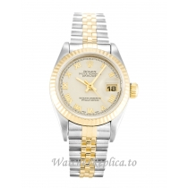 Rolex Datejust Lady Ivory Pyramid Dial 69173 26MM