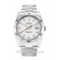 Rolex Turn O Graph White Dial 116264 36MM