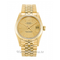 Rolex Mid Size Datejust Champagne Dial 68278 31MM