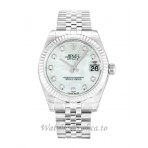 Rolex Datejust Lady Mother of Pearl   White Diamond Dial 178274 31MM