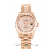 Rolex Datejust Lady Rose Gold Diamond (Jubilee) Dial 179175 26MM