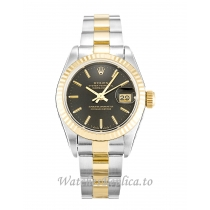 Rolex Datejust Lady Black Dial 69173 26MM