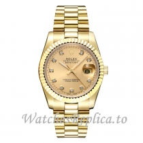 Rolex Datejust Replica 40MM 16233 18K & SS Diamond Dial Jubilee