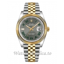 Fake Rolex Datejust 126333-0020 Men's Slate Grey Wimbledon Dial 41MM