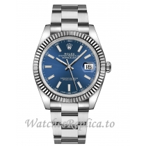 Fake Rolex Datejust 126334 Oyster Bracelet Blue Dial 41MM