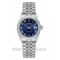Rolex Datejust Replica 78274 Blue Roman Dial Women's Watch 31MM