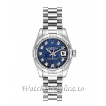 Replica Rolex Datejust 179369 Presidential Diamond Bezel Women's 26MM
