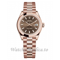 Fake Rolex Lady Datejust Replica 279165-0007 Chocolate Brown Dial 28MM