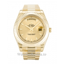 Rolex Day-Date II Champagne Dial 218238-41 MM
