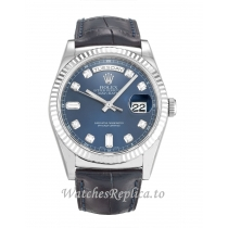 Rolex Day-Date Blue Diamond Dial 118139-36 MM