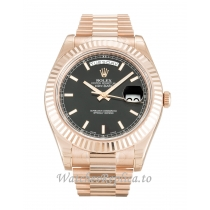 Rolex Day-Date II Black Dial 218235-41 MM