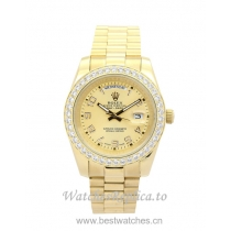 Rolex Day-Date II Champagne Dial 218348-41 MM