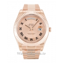 Rolex Day Date II Rose Dial 218235 41MM