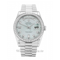 Rolex Day-Date Blue Diamond Dial 118346-36 MM