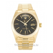 Rolex Day-Date Black Dial 18038-36 MM