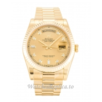 Rolex Day-Date Champagne Diamond Dial 118238-36 MM