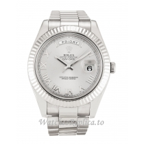 Rolex Day-Date II Silver Dial 218239-41 MM