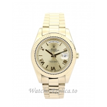 Rolex Day Date II Gold Dial 218238 41MM
