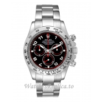 Rolex Daytona Replica Cosmograph Black Dial Mens Watch 116509 40MM