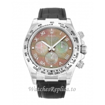 Rolex Daytona Mother of Pearl   Black Dial 116519 40MM