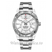 Fake Rolex Sky Dweller 326934 White Dial 42MM